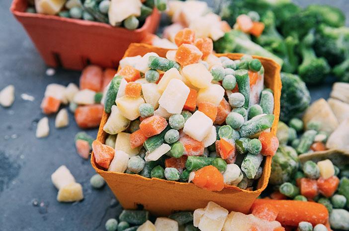 tips menyimpan sayuran beku
